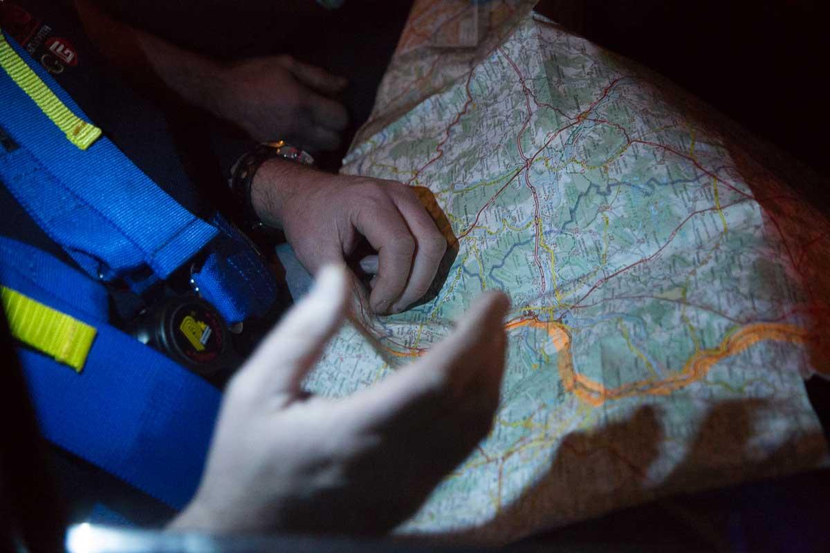 Blick auf die Karte · Étape de concentration · 19.Rallye Monte-Carlo Historique 2016, 29.01.2016, 19:21 Uhr