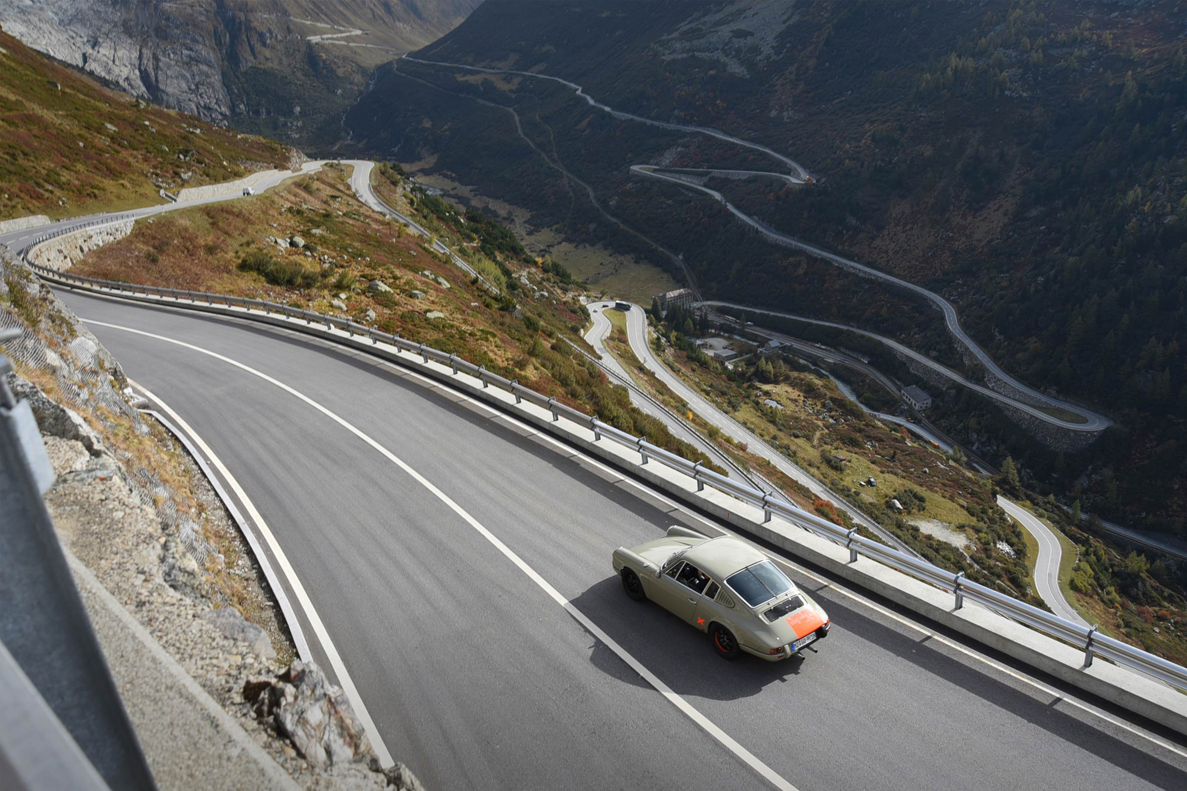 Alpenausfahrt mit 911er Porsche © Markus Haub
