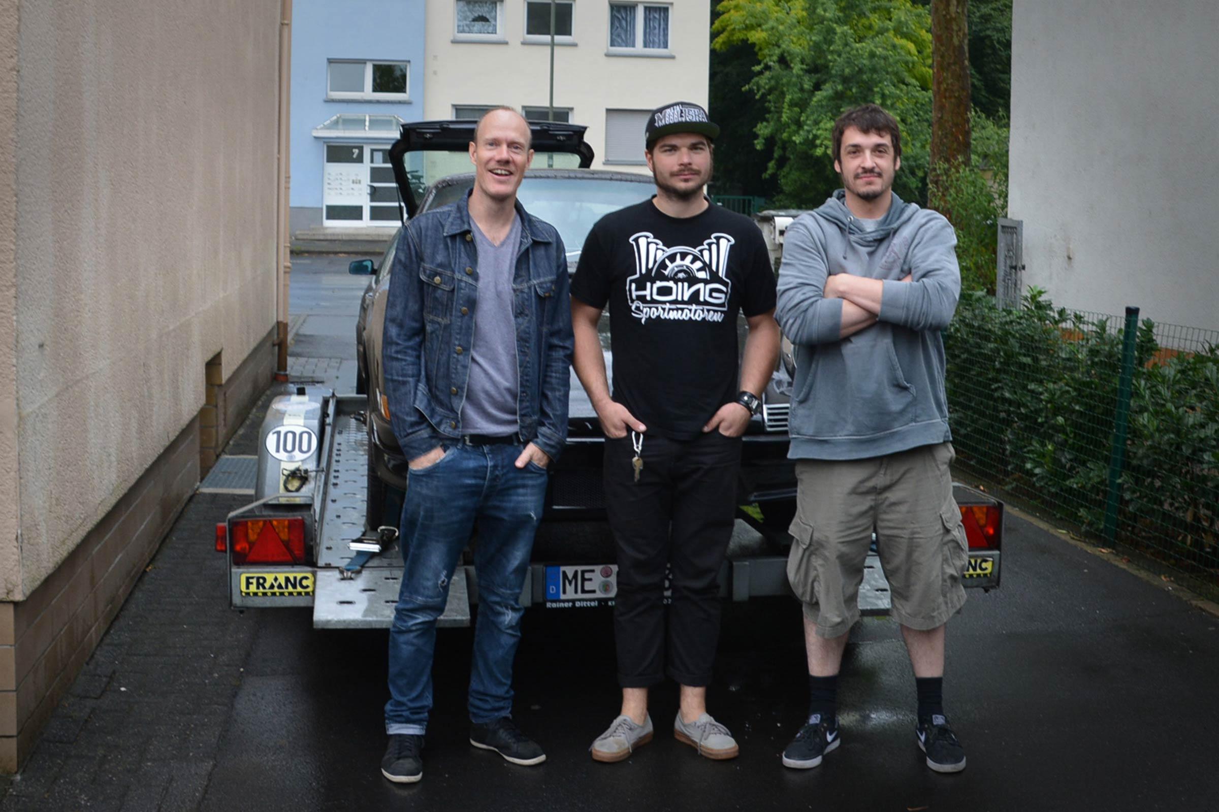 vlnr. Markus Haub, Daniel Schaefer von Classic Boxers und Tom Gädtke von Onassis Porsches