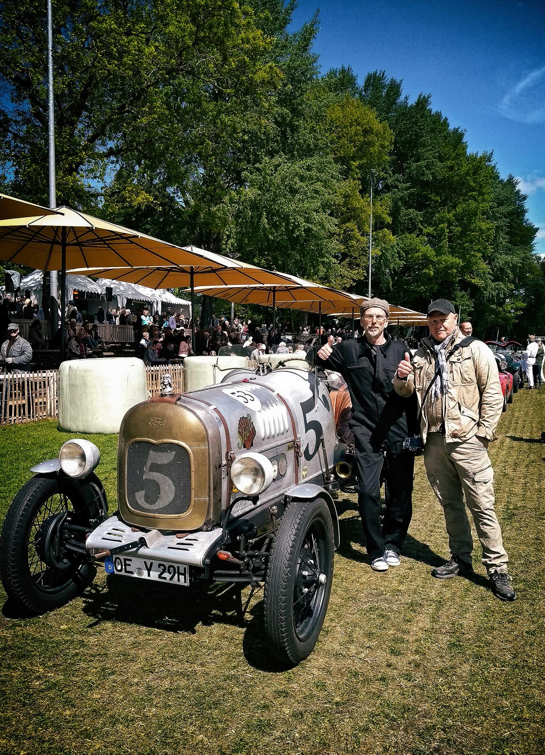 Kurt Nägele und Volker Schneider (vlnr) auf den Vintage Race Days 2019, Foto: Anke Nägele